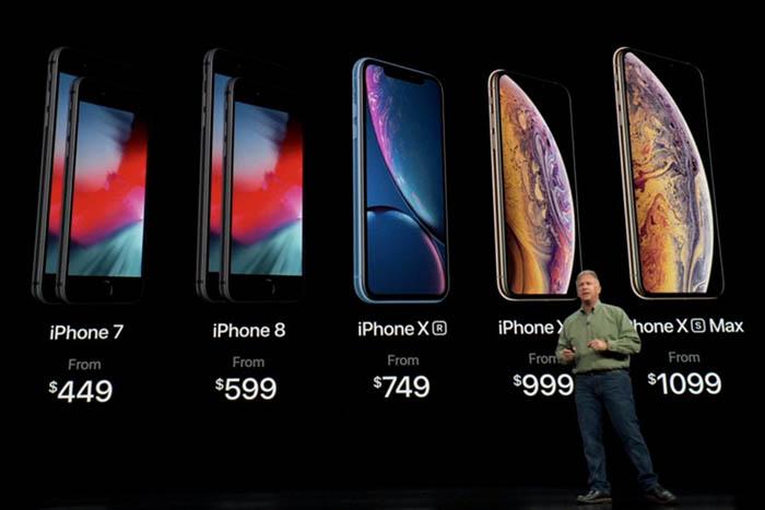 موبایل اپل ایفون XS,XS MAX,XR رونمایی شد