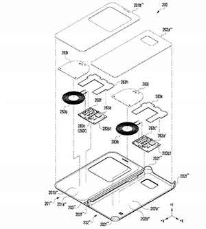 قاب موبایل سامسونگ با قابلیت شارژ ساعت هوشمند